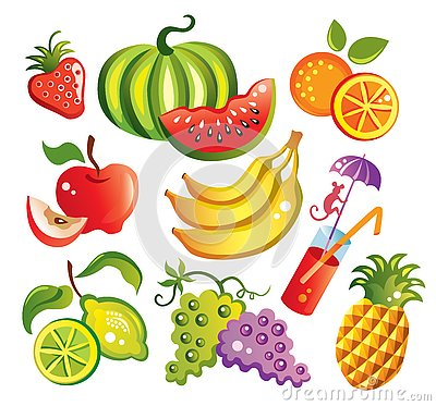 Free Set Of Fruits Royalty Free Stock Photos - 4047908