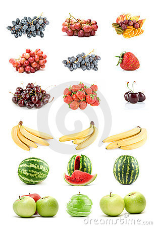 Free Set Of Fruits And Vegetables Stock Photo - 10658450