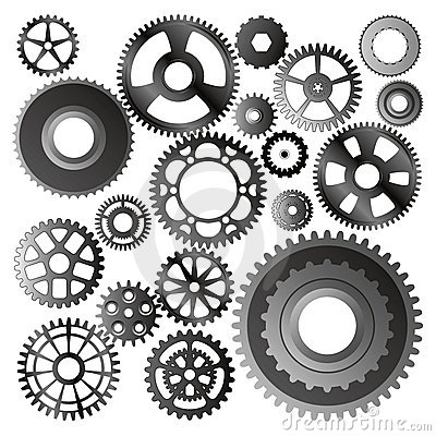 Free Set Of Gear Wheels Vector Royalty Free Stock Images - 5471899