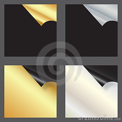 Free Set Of Gift Cards With Rolled Corners Royalty Free Stock Photo - 23334545