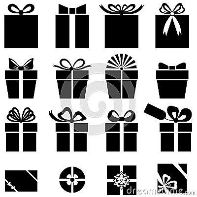 Free Set Of Gift Icon Royalty Free Stock Photos - 43632888