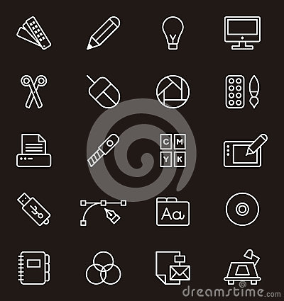 Free Set Of Graphic Design Icons Royalty Free Stock Photos - 41788108