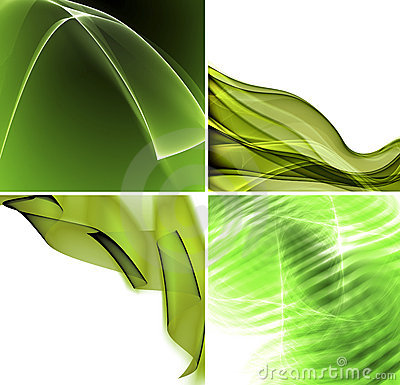 Free Set Of Green Abstract Backgrounds Royalty Free Stock Photos - 14888708