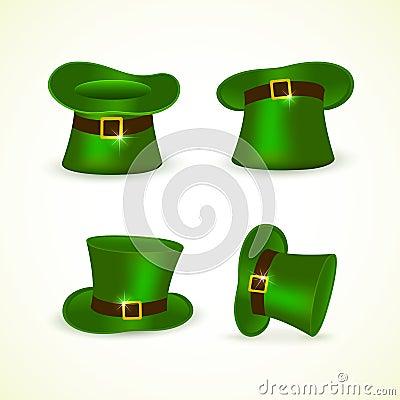 Free Set Of Green Leprechaun Hats Royalty Free Stock Photography - 67411717