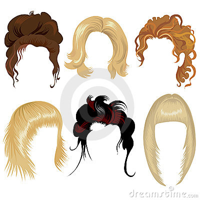 Free Set Of Hair Styling Royalty Free Stock Images - 7803019
