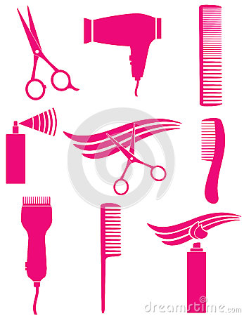Free Set Of Hairdresser Tools Stock Photography - 28024892