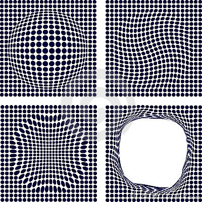 Free Set Of Halftone Backgrounds. Royalty Free Stock Images - 4912109