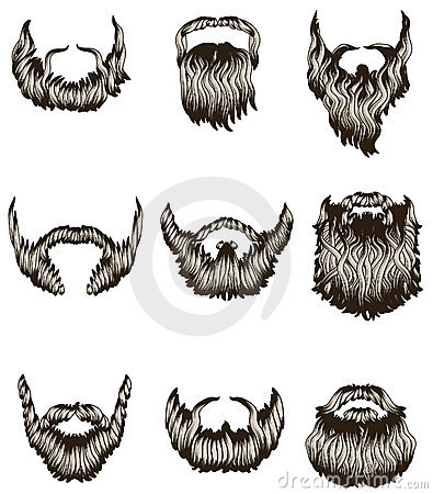 Free Set Of Hand Drawn Beards Royalty Free Stock Photos - 13116908
