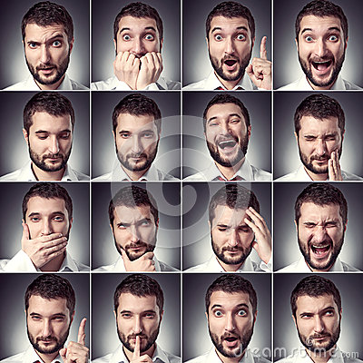 Free Set Of Handsome Emotional Man Royalty Free Stock Images - 30414689