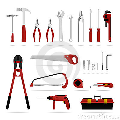 Free Set Of Hardware Tool Stock Image - 14391801
