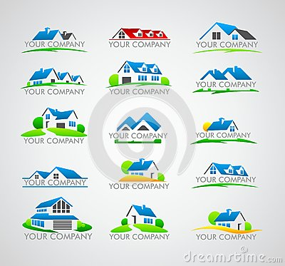 Free Set Of House Logo Royalty Free Stock Photography - 52002647