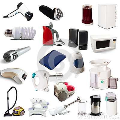 Free Set Of Household Appliances Stock Photo - 31584520