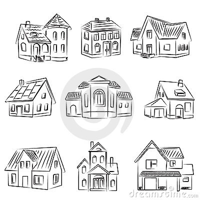 Free Set Of Houses Royalty Free Stock Photo - 17796535