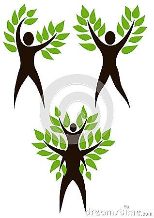 Free Set Of Human Tree Royalty Free Stock Photo - 13300775