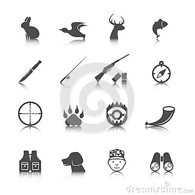 Free Set Of Hunting Icons Royalty Free Stock Images - 42436199