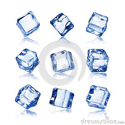 Free Set Of Ice Cubes Isolated On White Background Royalty Free Stock Photos - 110849788