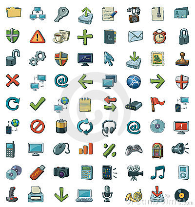 Free Set Of Icons Stock Photography - 20597762