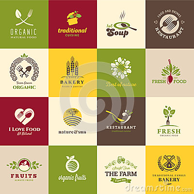 Free Set Of Icons For Food And Drink Stock Photos - 33266003
