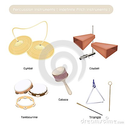 Free Set Of Indefinite Pitch Instruments On White Backg Stock Image - 31785411