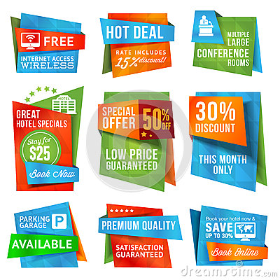 Free Set Of Labels And Banners Royalty Free Stock Images - 26442719