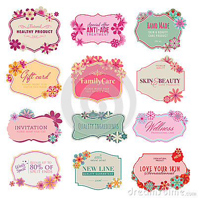 Free Set Of Labels And Stickers Stock Image - 25999441