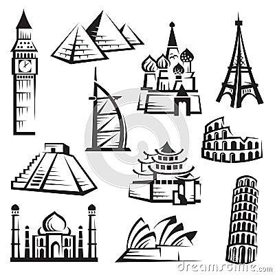 Free Set Of Landmarks Royalty Free Stock Photos - 22172668