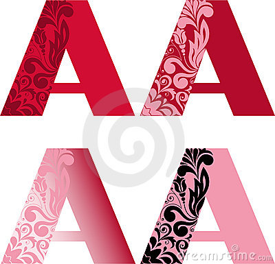 Free Set Of Letters А Royalty Free Stock Photography - 14932007