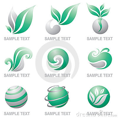 Free Set Of Logos Of Nature Stock Photography - 8376942