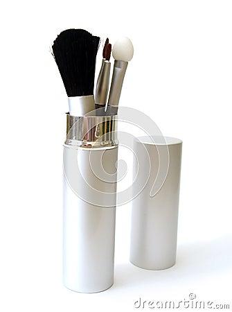 Free Set Of Make-up Brushes Royalty Free Stock Photography - 2400967