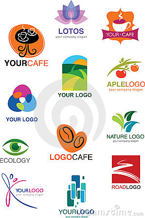 Free Set Of Many Different Logos And Symbols Royalty Free Stock Photos - 12310538