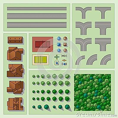 Free Set Of Map Elements Stock Image - 11888341