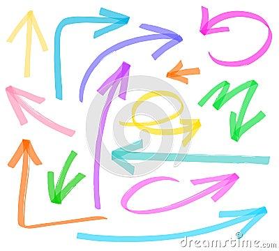 Free Set Of Marker Arrows Stock Photo - 28069480