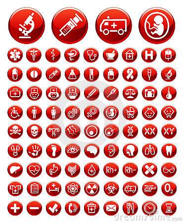 Free Set Of Medical Icons And Warning Signs Stock Images - 21086024