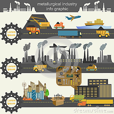 Free Set Of Metallurgy Icons, Metal Working Tools; Steel Profiles For Stock Image - 41916471