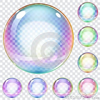 Free Set Of Multicolored Soap Bubbles Stock Photos - 39476843
