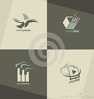 Free Set Of Music Symbols, Logos And Icons Stock Image - 47121531