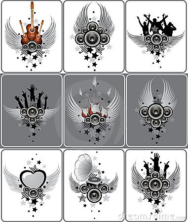 Free Set Of Musical Designs Royalty Free Stock Photography - 6601487