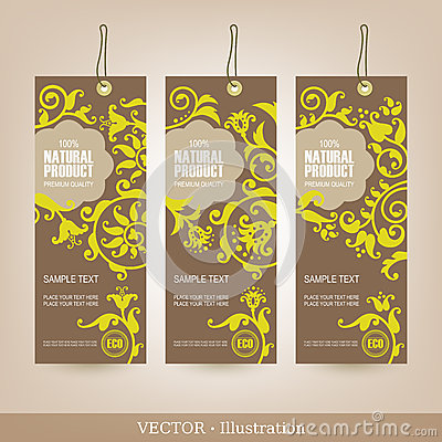 Free Set Of Natural Premium Quality Labels. Royalty Free Stock Photos - 28316328