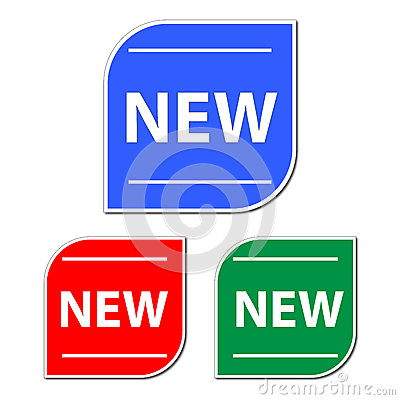 Free Set Of New Buttons Stock Photo - 42341990