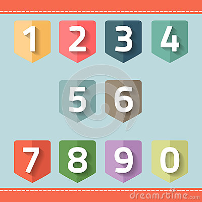 Free Set Of Number On A Flag Royalty Free Stock Images - 41900249