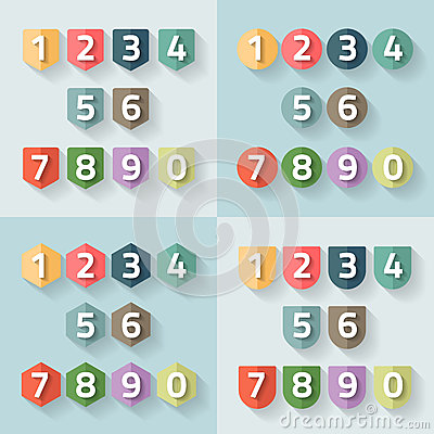 Free Set Of Number On A Label Royalty Free Stock Photos - 41900328