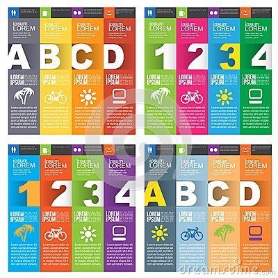 Free Set Of Numbered Banners Royalty Free Stock Photo - 33334315