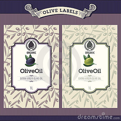 Free Set Of Olive Oil Labels Royalty Free Stock Photo - 20952785