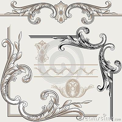 Free Set Of Ornate Flourishes Royalty Free Stock Images - 5882829