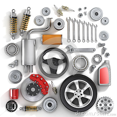 Free Set Of Parts Of Car. Stock Images - 48706474