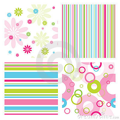 Free Set Of Patterns Royalty Free Stock Image - 18251436