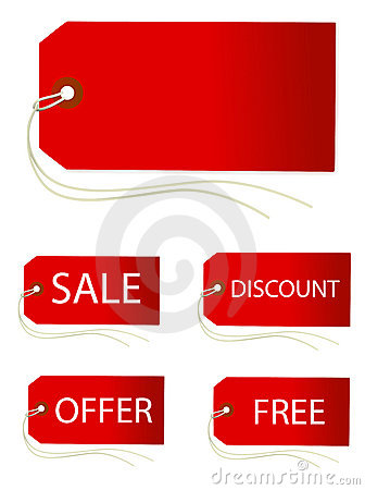 Free SET OF PRICE TAGS Royalty Free Stock Photo - 7599365
