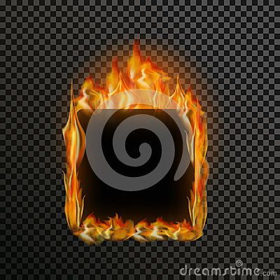 Free Set Of Realistic Transparent Fire Flames On A Plaid Black White Grid Background Stock Photos - 65564583
