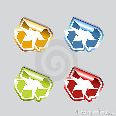 Free Set Of Recycle Icons. Royalty Free Stock Photography - 12118167
