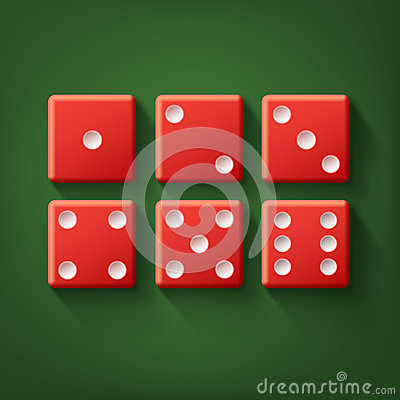 Free Set Of Red Dice Stock Images - 93474744